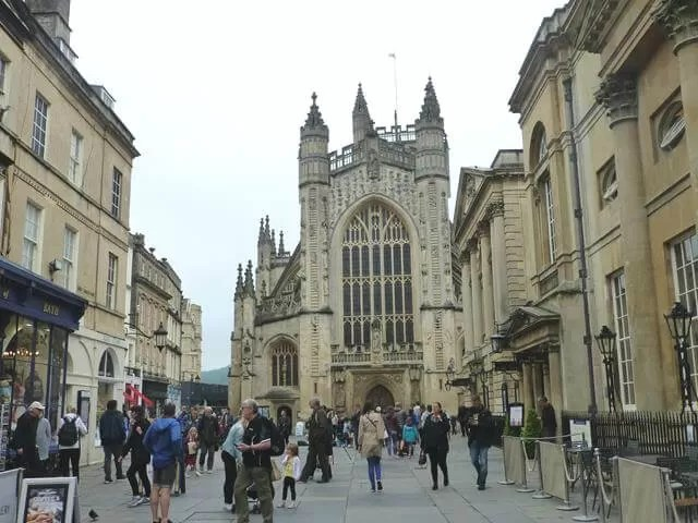 bath abbey from the square