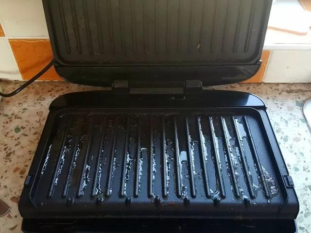 george foreman grill after meat
