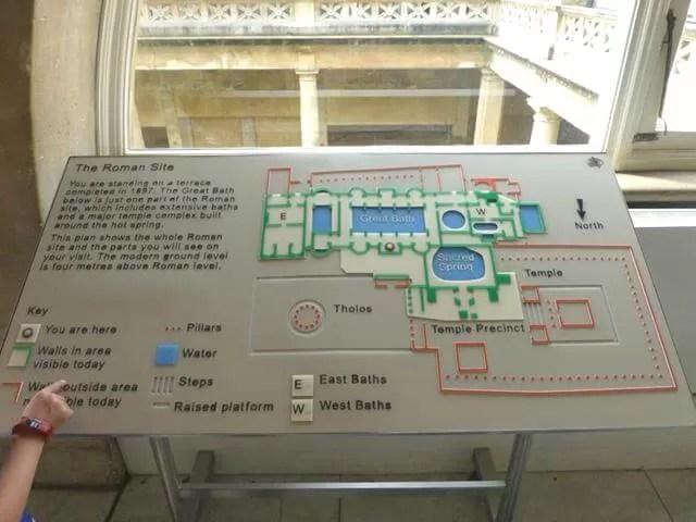 map of roman baths