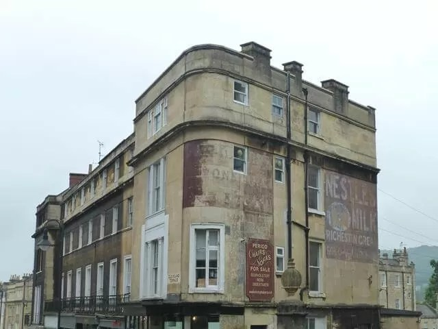 old advertising in bath
