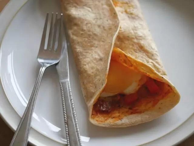 pizza wrap margarita