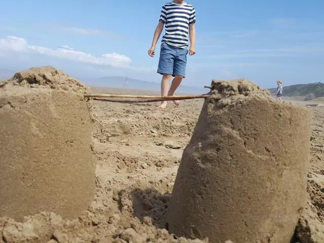 sandcastles at berrow beach