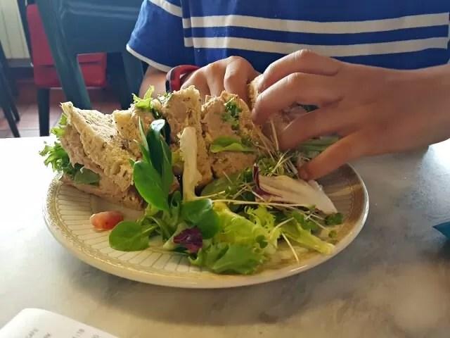 tuna sandwich at victoria park