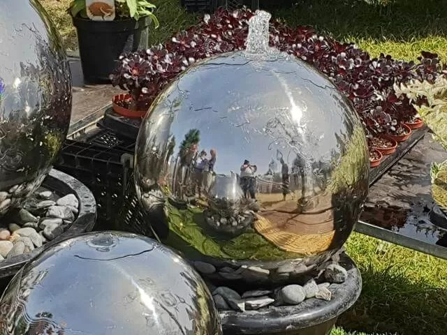 water feature spheres