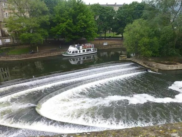 weir on river avon bath