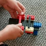 He does love creating with Lego