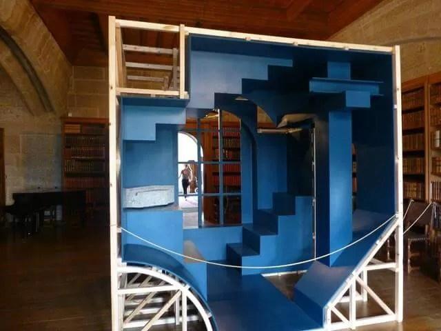 sculpture cube at Castle Drogo
