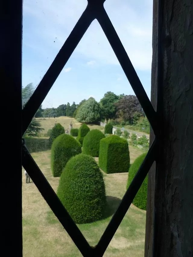 view through a window.