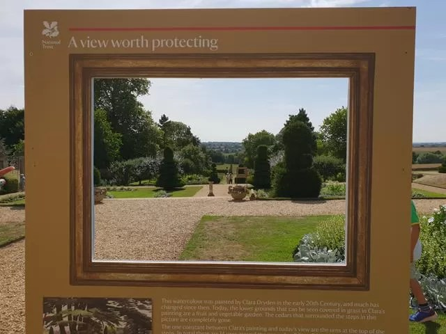 view through the frame