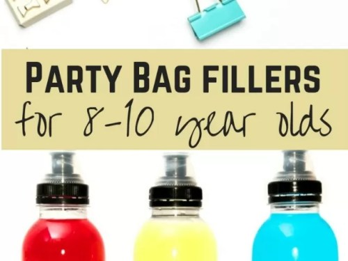 Party bag fillers for 8-10 year olds - Bubablue and me