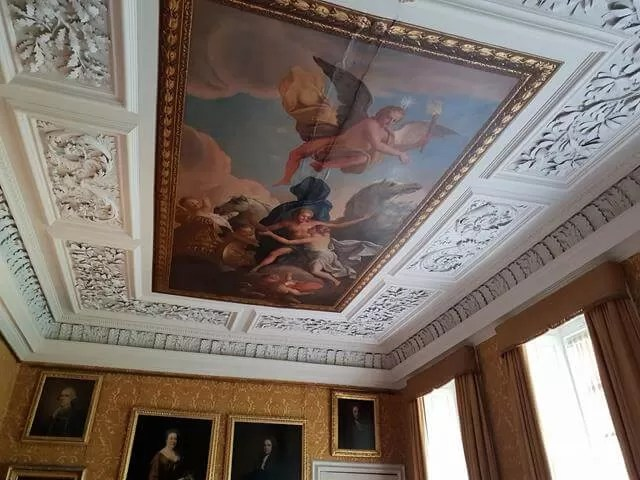 ceiling at hanbury hall