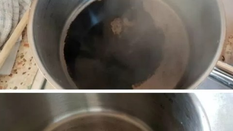 How to clean a burnt saucepan