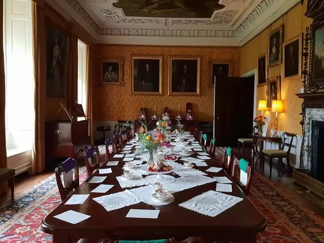 dining room at hanbutyhall