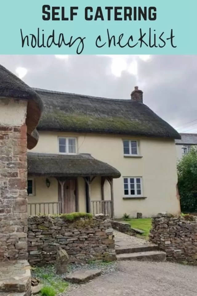 self catering cottage checklist - Bubbablue and me