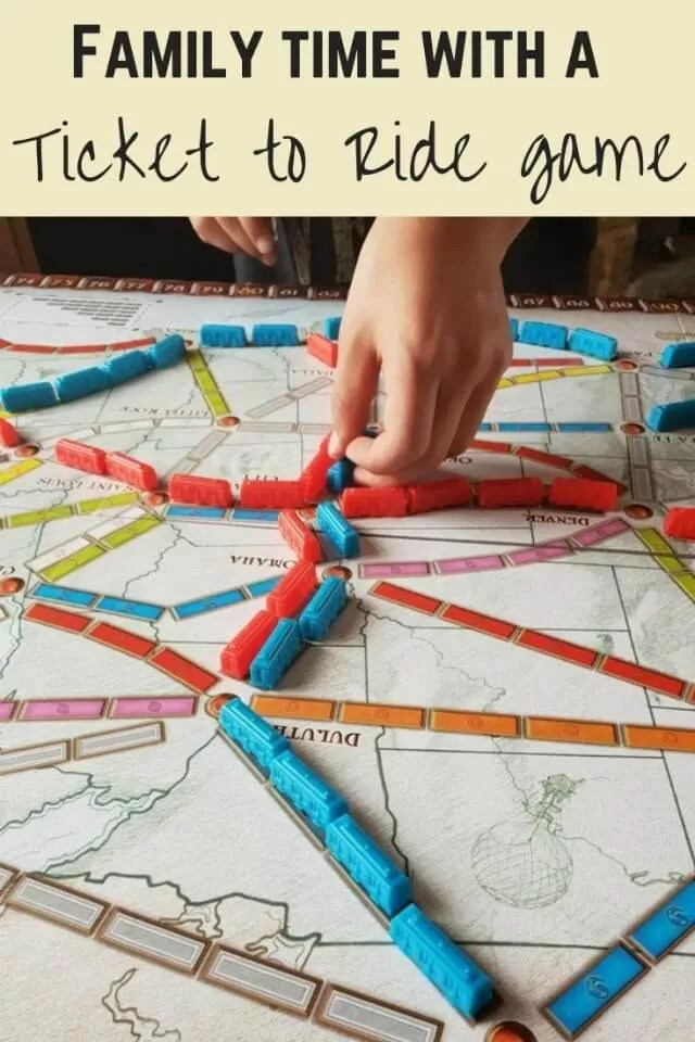 Ticket to Ride game - bubbablue and me