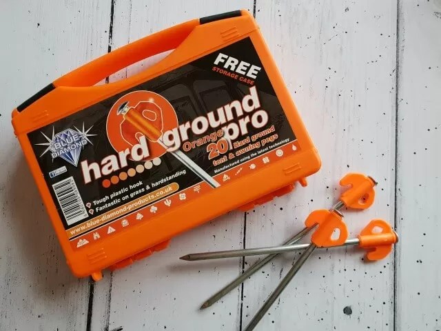 hard ground tent pegs
