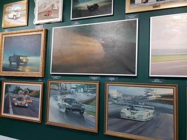 paintings of jaguar cars