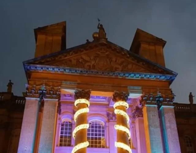 A Blenheim Palace Christmas with Cinderella and lights