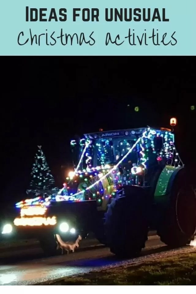 Unusual christmas activites - tractor run - Bubbablue and me