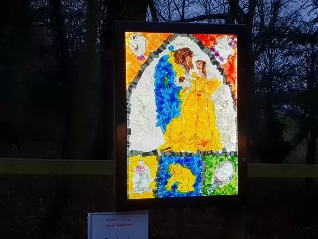 beauty and the beast lit up artwork