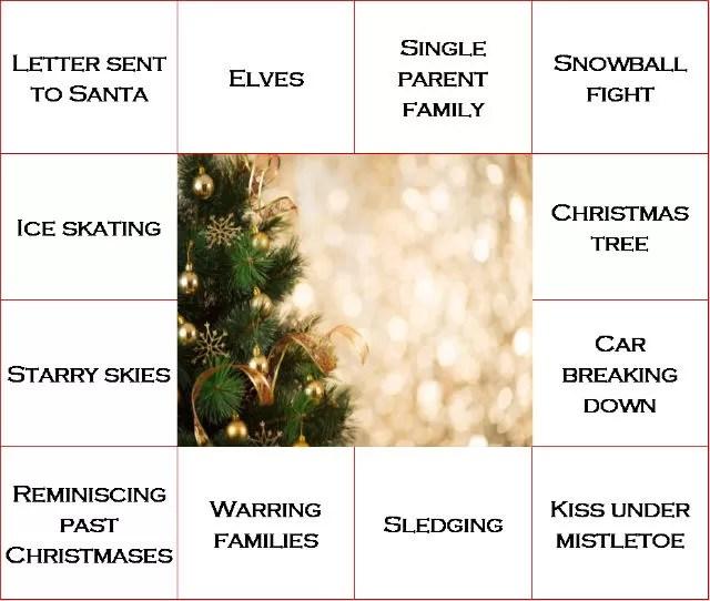 example christmas bingo movie card