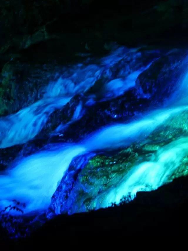 cascade long exposure lighting