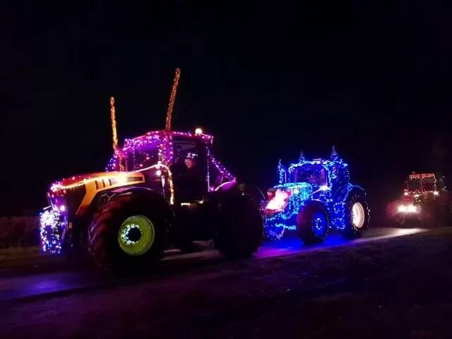 lit up tractors