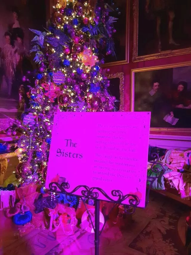 ugly sisters themed christmas display