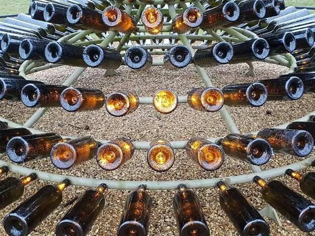 wine bottle sculpture