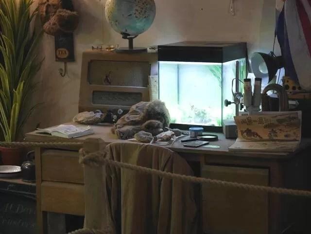 explorers desk set up