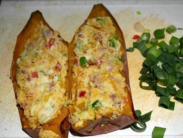 sweet potatoes filled with mix
