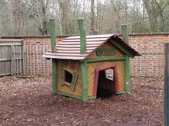 white rabbits house at storybook den