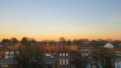 sunset view over banbury