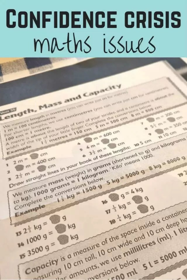 crisis of confidence in maths - Bubbablue and me