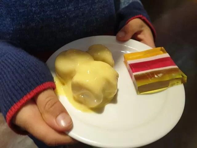 banana custard and triple jelly