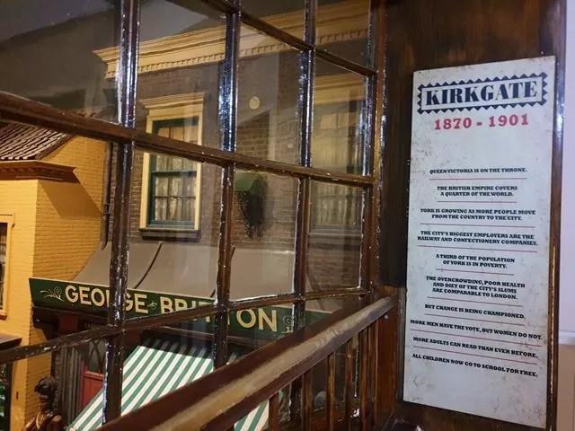 information sheet on Kirkgate replica