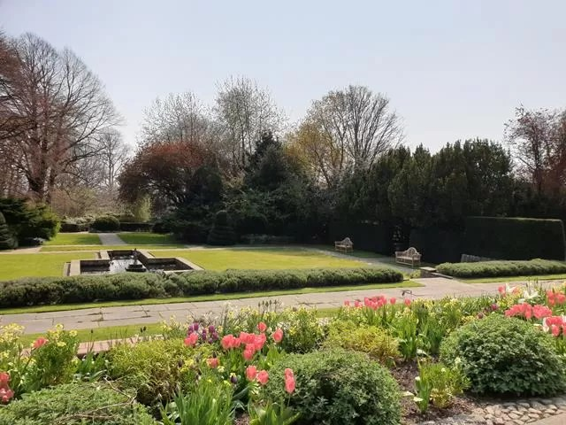 overlooking the gardens at goddards house