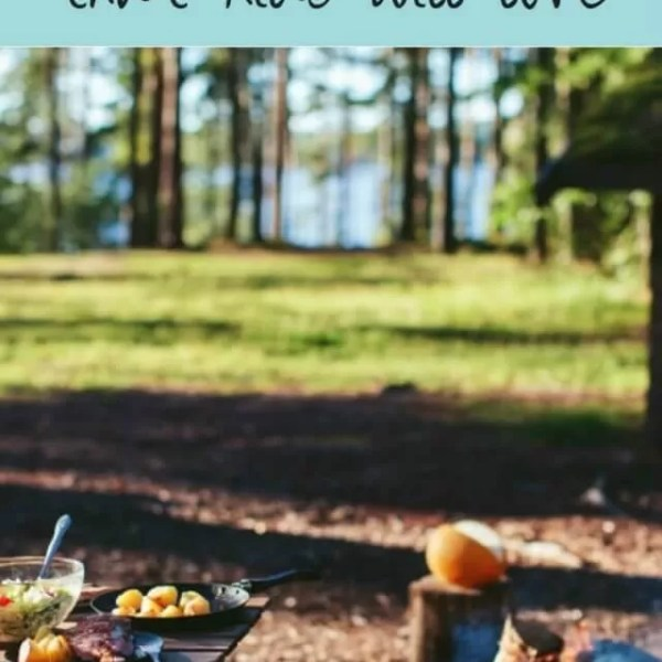 Camping meal ideas for kids and cooking equipment