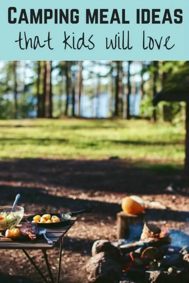 camping meal ideas for kids - Bubbablue and me.