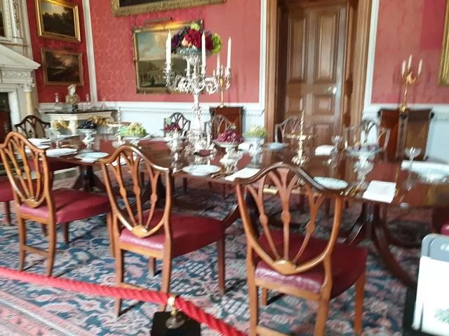 dining room set up at castle howard