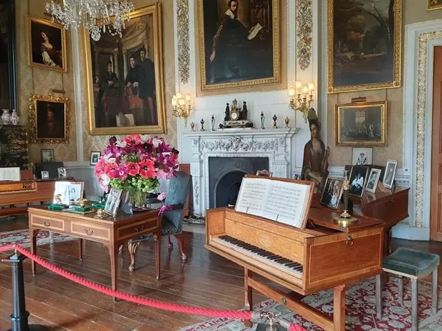 piano room at castle howard