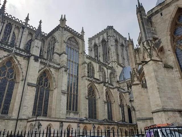 side shot of York Minster