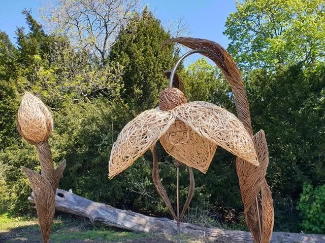 wicker flower statue