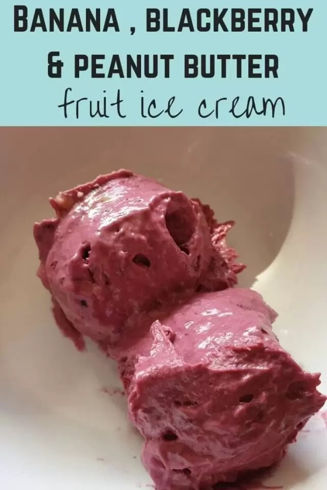 Banana and blackberry fruit ice cream - Bubbablue and me