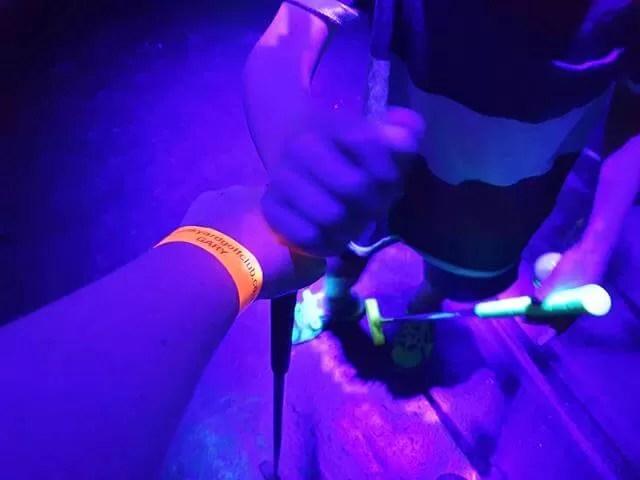 neon golf wristbands