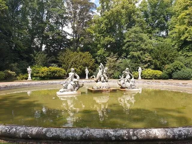 waddesdon manor water fountain statues