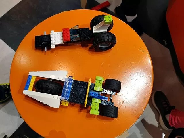 2 cars we build from lego.