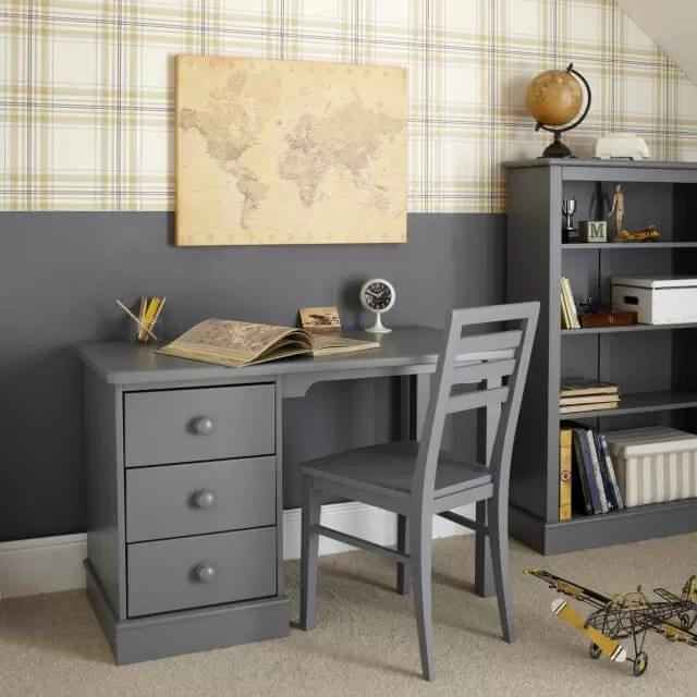 Aspace Childrens Furniture, Childrens Pedestal Desk Dark Grey, 6620787