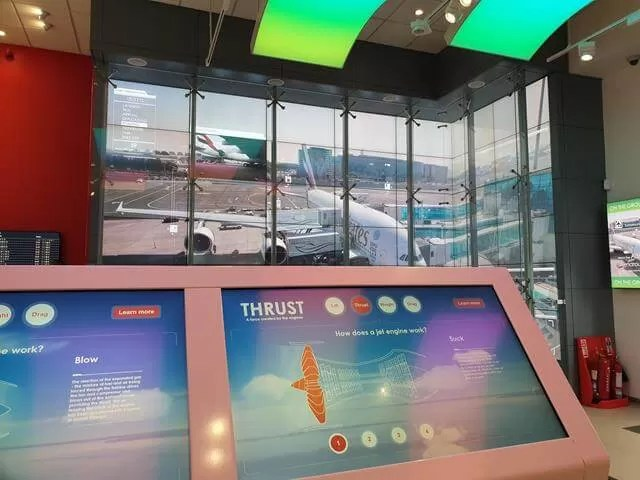 interactive activtities at emirates
