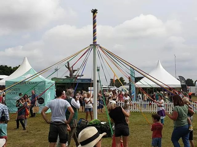 maypole dancing on the village green at countryfile live